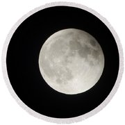 Full Planet Moon Round Beach Towel