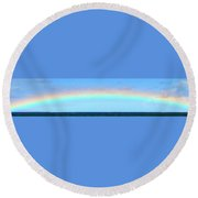 Full Rainbow Round Beach Towel