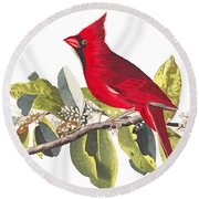 Round Beach Towel featuring the photograph Full Red by Munir Alawi