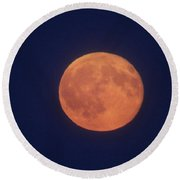 Full Sturgeon Moon Round Beach Towel