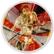 Fully Charged Michael Jackson Round Beach Towel