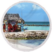 Round Beach Towel featuring the photograph Fun In The Sun by Judy Wolinsky