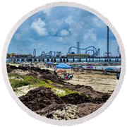 Fun On The Beach Round Beach Towel