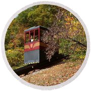Funicular Descending Round Beach Towel by Cindy Manero