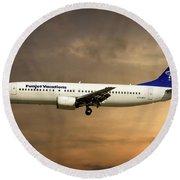 Funjet Vacations Boeing 737-4yo Round Beach Towel