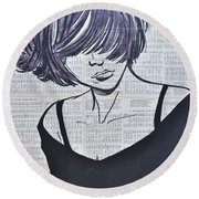 Funky And Free Round Beach Towel