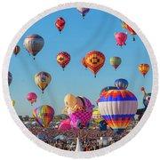 Funky Balloons Round Beach Towel