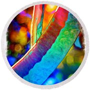 Funky Seed Pods  Round Beach Towel