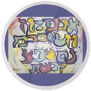 Funnzie Letters Round Beach Towel