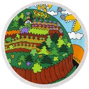 Future Development A Round Beach Towel