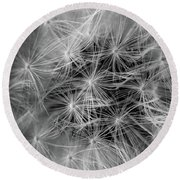 Future Wish In Black And White Round Beach Towel