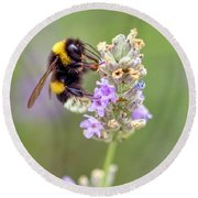 Fuzzy Bee Round Beach Towel