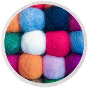 Fuzzy Wuzzies Round Beach Towel