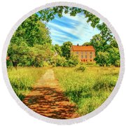 Round Beach Towel featuring the photograph Gaeddeholm by Leif Sohlman