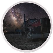 Galactic Big Rig Round Beach Towel