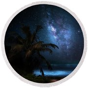 Galaxy Beach Round Beach Towel