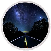 Round Beach Towel featuring the photograph Galaxy Highway by Mark Andrew Thomas