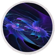 Galaxy Merger Round Beach Towel