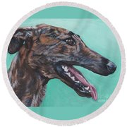 Galgo Espanol Spanish Greyhound Round Beach Towel
