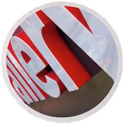 Round Beach Towel featuring the photograph Gallery  by John S