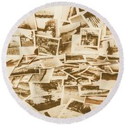 Gallery Of Old Landscape And Antique Places Round Beach Towel