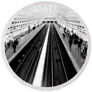 Gallery Place Metro Round Beach Towel by Thomas Marchessault