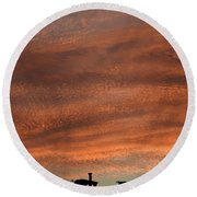 Round Beach Towel featuring the photograph Gallery Sunrise 2 by Mark Blauhoefer