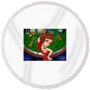 Gambling Round Beach Towel