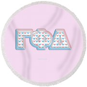 Gamma Phi Delta Greek Round Beach Towel