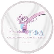 Gamma Phi Delta Splash Round Beach Towel