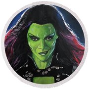 Gamora Round Beach Towel