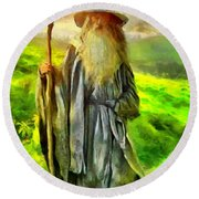 Gandalf, The  Grey Round Beach Towel