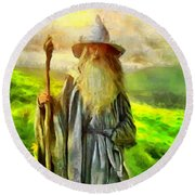 Gandalf, The  Grey Round Beach Towel
