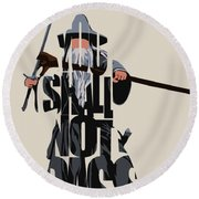 Gandalf - The Lord Of The Rings Round Beach Towel