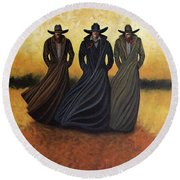 Gang Of Three Round Beach Towel