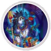 Gangeshvar Shiva Round Beach Towel