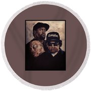 Gangsta Trinity Round Beach Towel