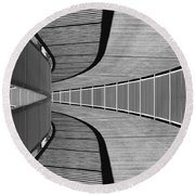Round Beach Towel featuring the photograph Gangway by Chevy Fleet
