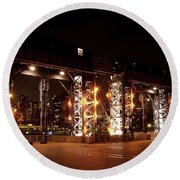 Gantry Nights Round Beach Towel