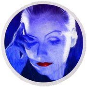 Garbo Round Beach Towel