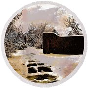 Garden Art Print  Round Beach Towel