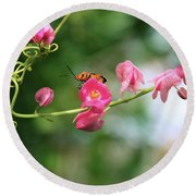 Garden Bug Round Beach Towel