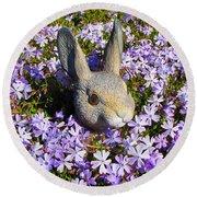 Garden Bunny Round Beach Towel