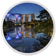Garden By The Bay, Singapore Round Beach Towel