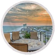 Garden City Beach View Round Beach Towel