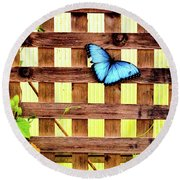 Garden Fence Round Beach Towel