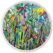 Garden Flourish Round Beach Towel