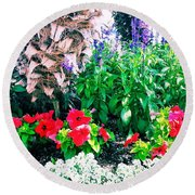 Garden Landscape 2 Version 1 Round Beach Towel