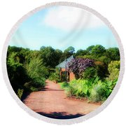 Round Beach Towel featuring the photograph Garden Of Glory by Kathy Baccari
