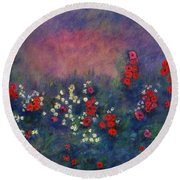 Garden Of Immortality Round Beach Towel